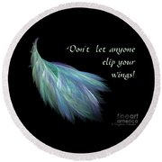 Wings Round Beach Towel by Suzanne Schaefer