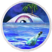 No Escape 2 Round Beach Towel
