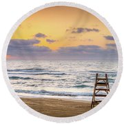 No Lifeguard On Duty. Round Beach Towel