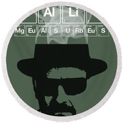 No More Half Measures - Breaking Bad Poster Walter White Quote Round Beach Towel