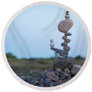 Zen Stack #2 Round Beach Towel