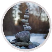 Zen Stack #3 Round Beach Towel