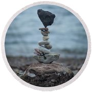 Zen Stack #6 Round Beach Towel