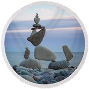 Zen Stack #7 Round Beach Towel
