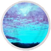 No Ordinary Sunset Round Beach Towel