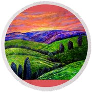 No Place Like The Hills Of Tennessee Round Beach Towel
