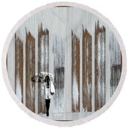Round Beach Towel featuring the photograph No Rain Forest by LemonArt Photography