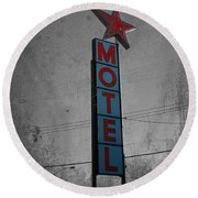 No Tell Motel Round Beach Towel by Jerry Cordeiro