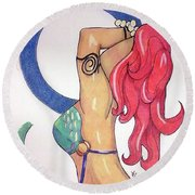No This Is Not Ariel Round Beach Towel