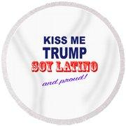 No Trump Round Beach Towel