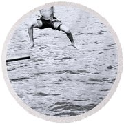 Round Beach Towel featuring the photograph No Turning Back by Jez C Self
