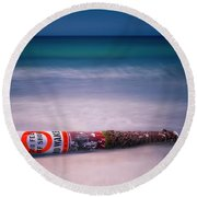 No Wake Round Beach Towel by Jerry Golab