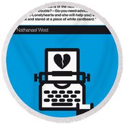 No011-my-miss Lonelyhearts-book-icon-poster Round Beach Towel