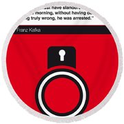 No013-my-the Trial-book-icon-poster Round Beach Towel