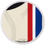 No014 My Herbie Minimal Movie Car Poster Round Beach Towel