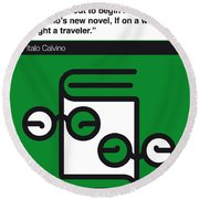 No014-my-if On A Winter's Night A Traveler-book-icon-poster Round Beach Towel