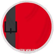 No018 My The Italian Job Minimal Movie Car Poster Round Beach Towel