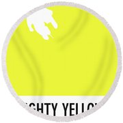No02 My Minimal Color Code Poster Mighty Mouse Round Beach Towel