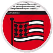 No033-my-the Making Of Americans-book-icon-poster Round Beach Towel