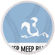 No05 My Minimal Color Code Poster Road Runner Round Beach Towel