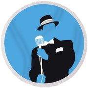 No059 My Sinatra Minimal Music Poster Round Beach Towel