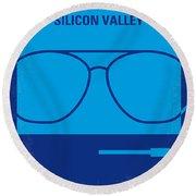 No064 My Pirates Of Silicon Valley Minimal Movie Poster Round Beach Towel