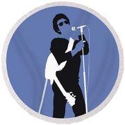 No068 My Lou Reed Minimal Music Poster Round Beach Towel