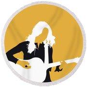 No074 My Sheryl Crow Minimal Music Poster Round Beach Towel