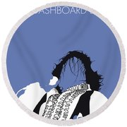 No078 My Meat Loaf Minimal Music Poster Round Beach Towel