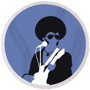 No088 My Sly And The Family Stone Minimal Music Poster Round Beach Towel
