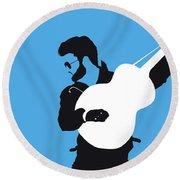 No089 My George Michael Minimal Music Poster Round Beach Towel