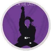 No091 My Janet Jackson Minimal Music Poster Round Beach Towel