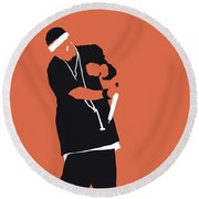 No093 My Nelly Minimal Music Poster Round Beach Towel