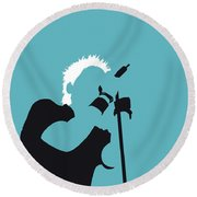 No095 My The Offspring Minimal Music Poster Round Beach Towel