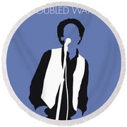 No098 My Art Garfunkel Minimal Music Poster Round Beach Towel