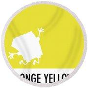 No10 My Minimal Color Code Poster Spongebob Round Beach Towel