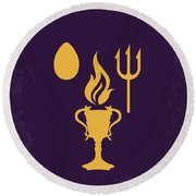 No101-4 My Hp - Goblet Of Fire Minimal Movie Poster Round Beach Towel