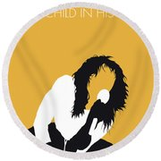 No104 My Kate Bush Minimal Music Poster Round Beach Towel