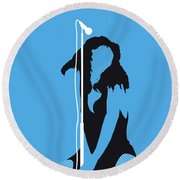 No109 My Donna Summer Minimal Music Poster Round Beach Towel