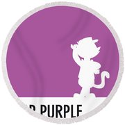 No11 My Minimal Color Code Poster Top Cat Round Beach Towel