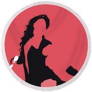 No122 My Beyonce Minimal Music Poster Round Beach Towel