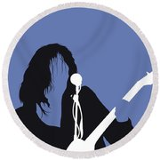 No128 My Neil Young Minimal Music Poster Round Beach Towel