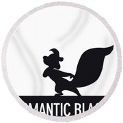 No13 My Minimal Color Code Poster Pepe Le Pew Round Beach Towel