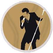 No130 My Lionel Richie Minimal Music Poster Round Beach Towel