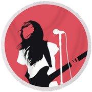 No142 My Meg Myer Minimal Music Poster Round Beach Towel