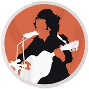 No143 My Don Mclean Minimal Music Poster Round Beach Towel