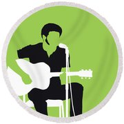 No156 My Bill Withers Minimal Music Poster Round Beach Towel