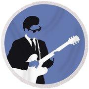No158 My Roy Orbison Minimal Music Poster Round Beach Towel
