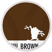 No16 My Minimal Color Code Poster Tasmanian Devil Round Beach Towel