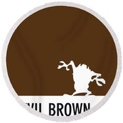 No16 My Minimal Color Code Poster Tasmanian Devil Round Beach Towel